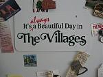 """Big """"The Villages"""" refrigerator magnet"""