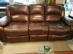Leather Sofa with duel electric recliners