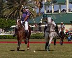 A goal-saving hook at a polo game at The Villages Polo Club in November, 2012.